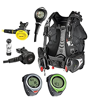 Mares Scuba Package WITH PUCK PRO Bolt SLS BCD, Rover 2S, Octo Rover, Mission 1 Pressure Gauge Scuba Set