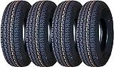 Set of 4  Premium Grand Ride Trailer Tires ST 205/75R15 8...