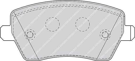 Ferodo Fdb1617 Premier Bremsbelagsatz Scheibenbremse 4 Teilig 4 Stück Auto