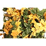 Set-of-2-Velvet-Sparkling-Christmas-Garlands-with-Artificial-Poinsettia-Flowers-50-X-2-100-Total-Pumpkin-Spice