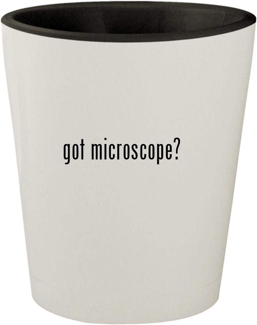 got microscope? - White Outer & Black Inner Ceramic 1.5oz Shot Glass