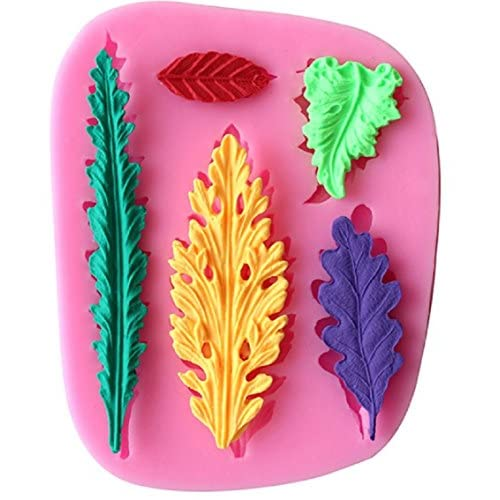 Tree sugar craft silicone mold /Fondant clay mould leaf shape 3d chocolate By Palker Sky