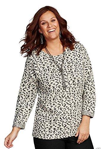 VACANCES VALISE dames pour femmes paillette NEIGE imprimé léopard pull taille 6-28 UK