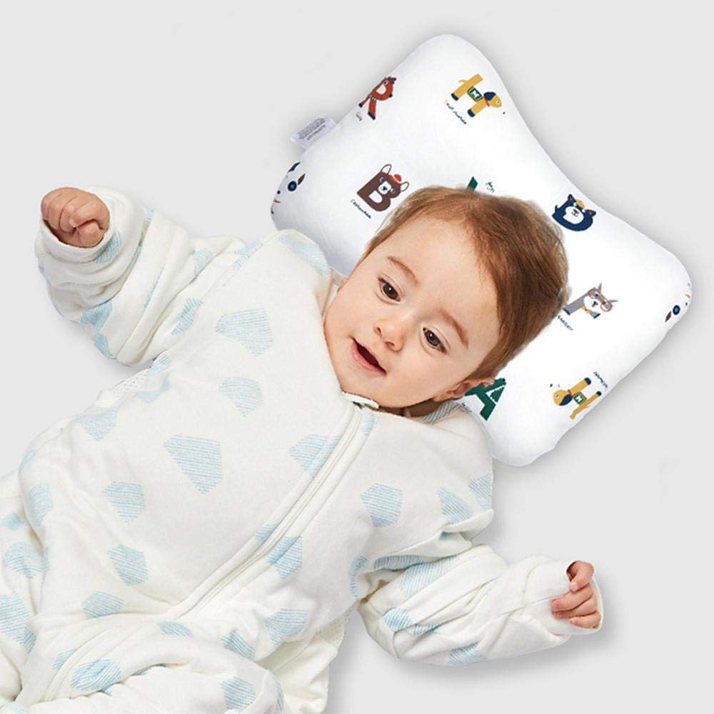 Infant Sleeping Pillows To Prevent Flat Head Syndrome 3D Soft Breathable Mesh,100/% Organic Cotton Hypoallergenic Volwco Newborn Baby Head Pillow Flat Head Prevention
