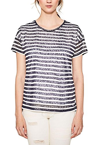 edc by Esprit 057cc1k010, Camiseta para Mujer Multicolor (Dark Blue)