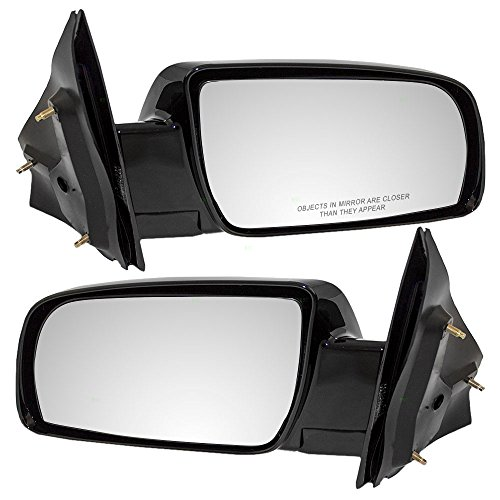 Driver and Passenger Manual Side View Below Eyeline Ready-to-Paint Mirrors Replacement for Chevrolet GMC Van 15757377 15757378 ()