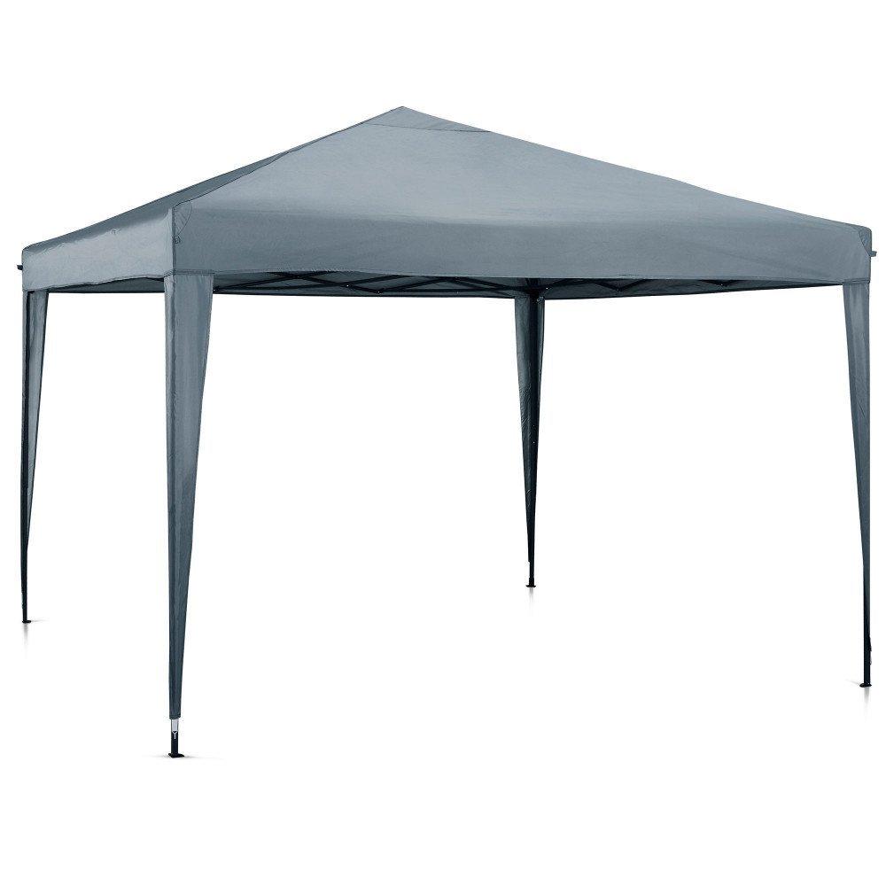 MCC® Gazebo plegable impermeable del gazebo 3x3m, tienda del pabellón con la capa protectora de plata incluye paredes laterales [WS] (color Gris): ...