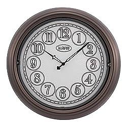 La Crosse Technology 18 Indoor/Outdoor Lighted Bronze Wall Clock