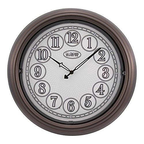 La Crosse Technology 18 Indoor/Outdoor Lighted Bronze Wall Clock