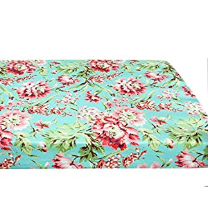 Baby Floral Fitted Crib Sheet for Boy and Girl Toddler Bed Mattresses fits Standard Crib Mattress 28×52″ (Aqua Floral)
