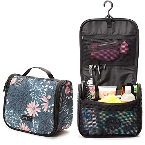 Jadyn B Hanging Toiletry Bag and Travel Cosmetic Organizer for Women