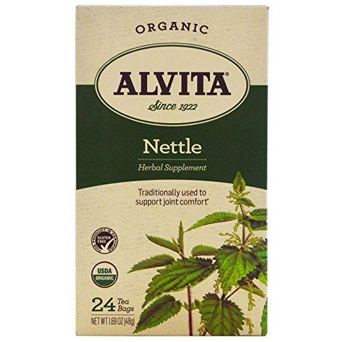 Alvita Teas, Organic, Nettle Tea, Caffeine Free, 24 Tea Bags, 1.69 (Alvita Teas Nettle Leaf Tea)