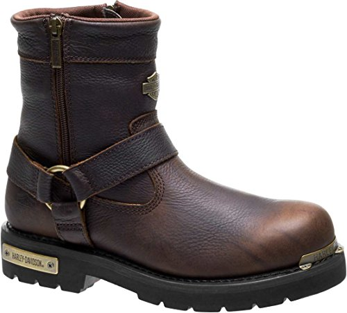 Harley-Davidson Men's Cromwell 6.75-Inch Motorcycle Boots D93495 (Brown, 10)