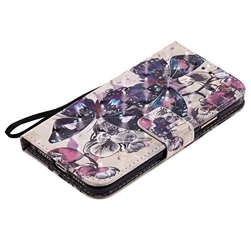 SRY-Mobile Phone Cases & Covers 3D brillo pintado caja de la carpeta del cuero de la PU cubierta del folio del tirón de la cubierta para el iPhone X ( PATTERN : 4 ) 1