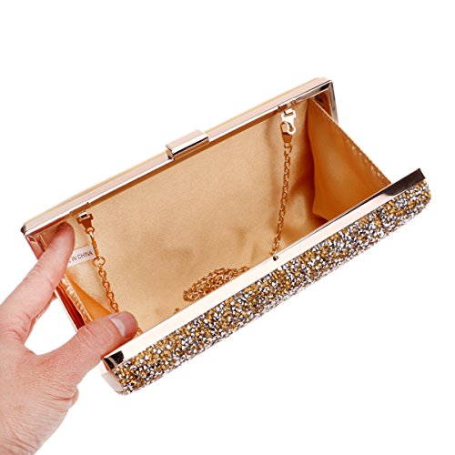 Wedding Clutch Golden Women Beaded For Evening Bags Party Party Clutch And Purse Evening xXq7OzZw