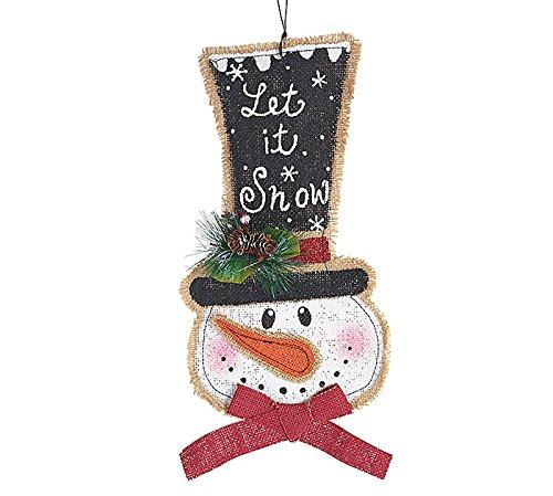 Christmas Holiday Decor Ornament/Door Hanger/Wall Hanger Burlap Snowman 20