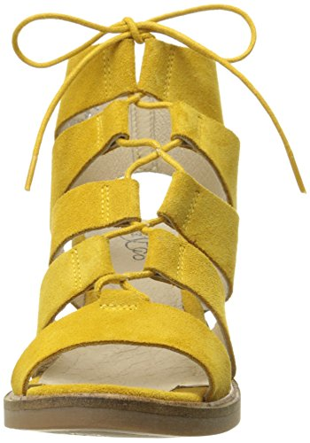 Fisherman Bos Women Leather Maize Yellow amp; Suede Sandal Co Brooke HWqW7vP1