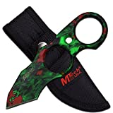 MTech USA 5.5'' Fixed Blade Knife Skull Camouflage with Nylon Sheath (Green)