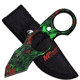 MTech USA 5.5'' Fixed Blade Knife Skull Camouflage with Nylon Sheath (Green)