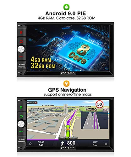 Pumpkin Android 90 Autoradio 2 Din Gps Radio Soporta Navegador Bluetooth Control Volante Wifi Mirror Link Subwoofer 4g Usb