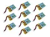 10-Pack of Lectron Pro 3.7 volt - 100mAh 20C Lipo Batteries for Estes Proto X Nano Quadcopter