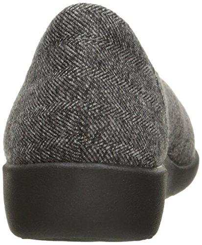 CLARKS Damen Sillian Holly Flat Grauer Tweed