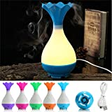 LED Essential Oil Diffuser Ultrasonic Air Humidifier Aromatherapy Purifier Night ( Orange )