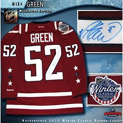 online store f4b43 b3604 Signed Mike Green (Washington Capitals) Jersey - 2015 Winter ...