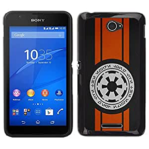 Design for Girls Plastic Cover Case FOR Sony Xperia E4 Space Writing OBBA