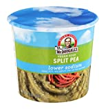 Dr. McDougalls Right Foods Vegan Split Pea Soup, Lower Sodium, 1.9-Ounce Cups (Pack of 6)