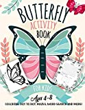 Butterfly Activity Book for Kids Ages 4-8: A Fun