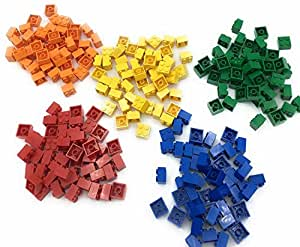 Lego 2x2 Bricks, 250 Count, 50 of each (Red, Orange, Yellow, Green, Blue)
