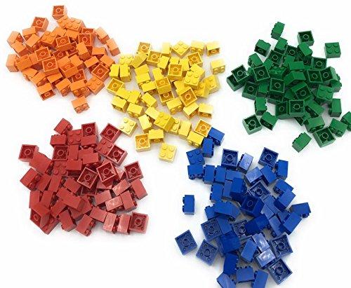 Lego 2x2 Bricks, 250 Count, 50 of each (Red, Orange, Yellow, Green, Blue)