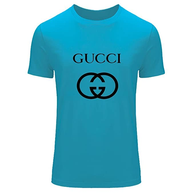 Gucci para 2016 Logo Mens Impreso Manga Corta Tops Camisetas