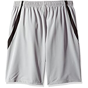 Russell Athletic Men's Big and Tall Pieced Woven Short with The Curved Insert, Charcoal, 4X