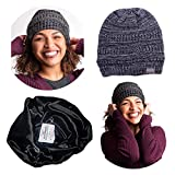 Beautifully Warm Women Winter Hat | Satin Lined Hat for Ladies with Natural