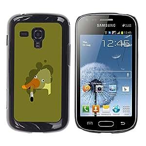 rígido protector delgado Shell Prima Delgada Casa Carcasa Funda Case Bandera Cover Armor para Samsung Galaxy S Duos S7562 /Goose Smoking Art Bad Painting/ STRONG
