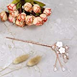 Monrocco Rhinestone Pearl Flower Hair Stick Chinese