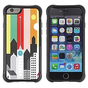 Jordan Colourful Shop@ Artistic Minimalist Architecture Colors Rugged hybrid Protection Impact Case Cover For iphone 6 6S CASE Cover ,iphone 6 4.7 case,iphone 6 cover ,Cases for iphone 6S 4.7