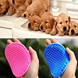 Pet Bath Brush, Iusun Dog Cat Rubber Bath Brush Comb Glove Hair Fur Grooming Massaging Massage Mit (Pink)