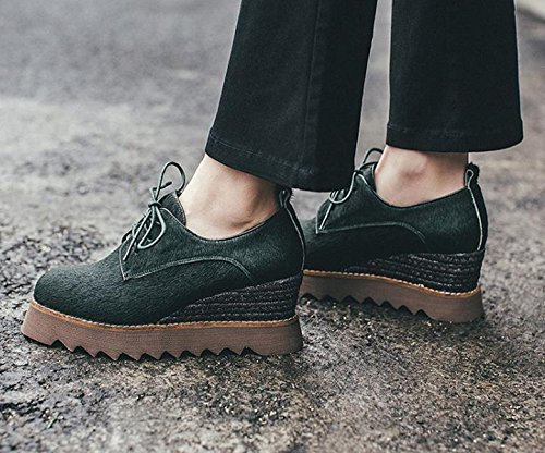 2017 spring new single shoes with round head casual shoes army green 7rqtP9dNg