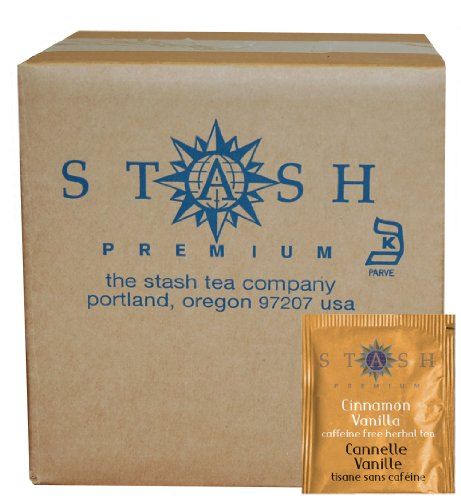 Stash Tea Cinnamon Vanilla Herbal Tea, 100 Count Box of Tea Bags in Foil (packaging may vary)