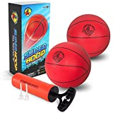 Mini Basketballs for Swimming Pool Inflatable Basketball Hoop - Set Includes 2 x 7 inch Basketballs and Hand Pump with Inflation Needles
