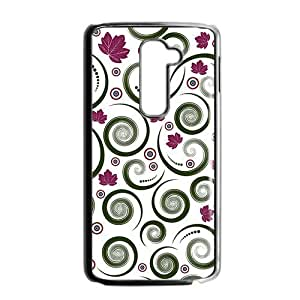 Unique maple leaves spiral pattern Phone Case for LG G2 by icecream design