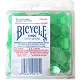 Bingo Chips Heavy Green Colour 200 Count Bicycle Brand