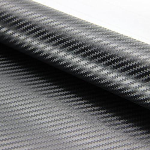 3D BLACK Carbon Fiber Texture Vinyl Wrap Sticker Decal Film Sheet CF BK 3D