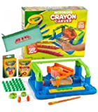 Crayola Motorized Crayon Carver, kids customizing there crayons with a unique message, kids personalizing crayons, Best Gift for Kids, Bundle pack with bonus pencil case and additional crayons