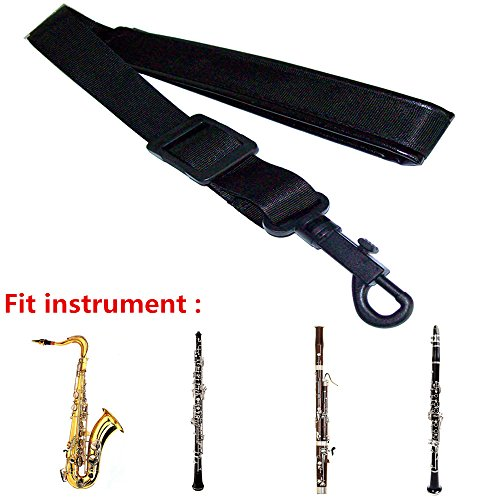 Neotech Soft Sax Harness Strap (Eyech Black Halter Sax Shoulder Strap Adjustable Universal Saxophone Harness Sax Strap with Hook)