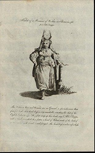 Wotiac Woman Siberia Large Headdress 1779 antique Ethnic Costume Dress print