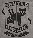 Schrodinger's Cat T-Shirt-Funny Wanted Dead or Alive shirt-Medium-Heather Gray